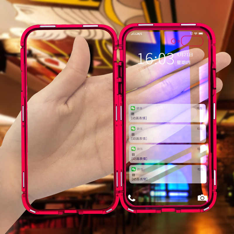 Роскошный металлический магнитный задняя Стекло чехол для samsung Galaxy S10E S8 S9 S10 плюс Чехол на для samsung Note 8 9 противоударный чехол