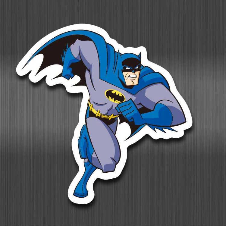 Super Hero Stiker DC Batman Superman PVC Tahan Air Stiker untuk Anak Bagasi Laptop Skateboard Mobil Sepeda