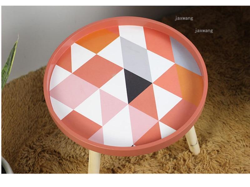Современные удобные деревянные круглые журнальные столы для кафе, спальни, скандинавские, высота 40 см, мини журнальные столы, мебель для дома, аксессуары для украшения дома