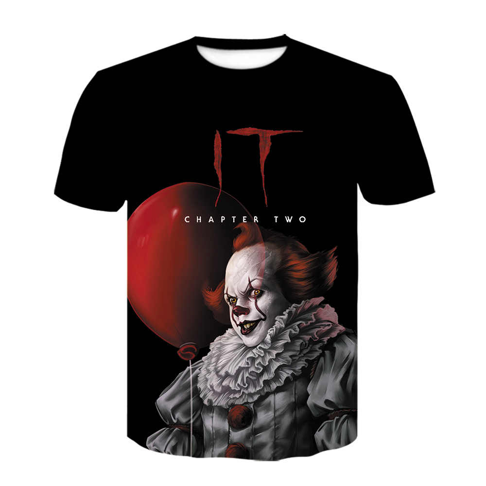 NEW Pennywise T Shirt Poster art Figure Top Stephen King IT Movie Men/'s M L XL