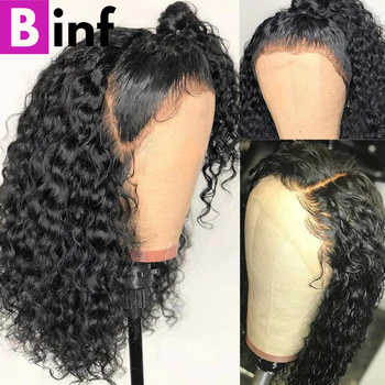 Curly Human Hair Wig Brazilian Short Bob Lace Front Wigs For Black Women Healthy Non Remy Hair Natural Color - DISCOUNT ITEM  58% OFF All Category