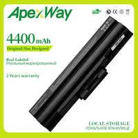 Apexway 6 Cells Laptop Battery for SONY VAIO VGP-BPS13/S VGP-BPS13A/S VGP-BPS21/S VGP-BPL21A VGP-BPS13A/B VGP-BPS21B VGP-BPL13