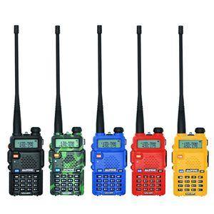 Image 2 - Baofeng UV 5R لاسلكي تخاطب المهنية CB محطة راديو Baofeng UV5R جهاز الإرسال والاستقبال 5 واط VHF UHF المحمولة الأشعة فوق البنفسجية 5R الصيد لحم الخنزير