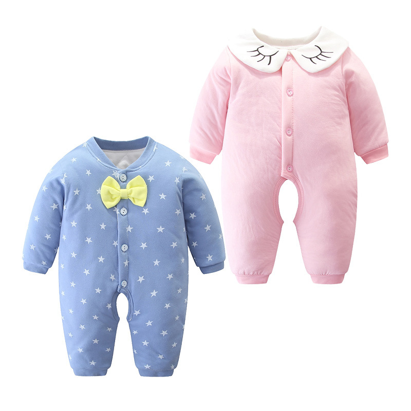 Baby Jumpsuits Newborns Warm Romper Cotton Clothes Infant Thick Men's 0 Women's Fall And Winter Clothes 3 Months Winter