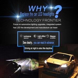 Image 2 - 2 uds faro de coche Mini lámpara H7 bombillas LED H4 H7 H8 H11 H1 H13 9005 9006 juego de focos delanteros 9007 para Auto 12V lámpara de LED 6000K 7600LM C6