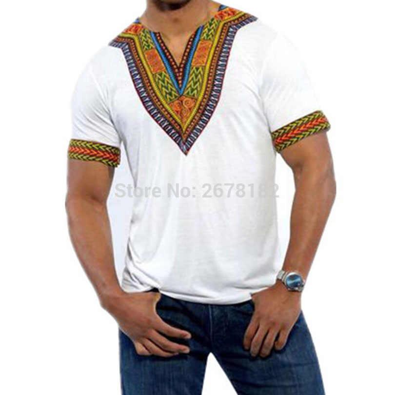แอฟริกาเสื้อผ้าแอฟริกัน Dashiki แบบดั้งเดิม Dashiki Maxi Man เสื้อ Maxi T เสื้อฤดูร้อน Man Man เสื้อยืด