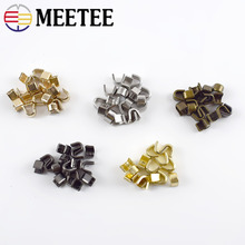 Meetee 20pcs Brass U Style Zipper Stopper Non-slip for 3# 5# 8# 10# Metal Nylon Resin Zippers Repair Crafts Accessory ZA212