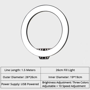 Image 5 - LED Ring Light Annular Lamp Studio Photography Photo Fill Ring Light with Phone Stand Tripod For iphone Phone Makeup Photography