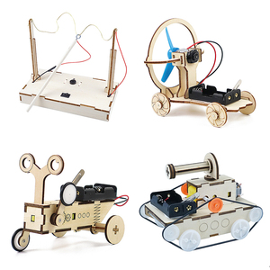 STEM Toys for Children Educational Science Experiment Technology Toy Set DIY Tank Car Model Puzzle Painted Kids Toys