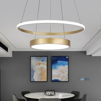 Avize Lustre Pendant Light Gold - Modern Led Pendant Lights