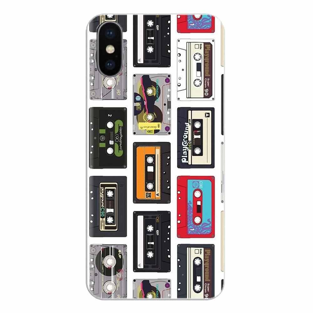 Silikon Handy Tasche Fall Vintage magnetband Kassette Für Samsung Galaxy S3 S4 S5 Mini S6 S7 Rand S8 S9 s10 Plus Hinweis 3 4 5 8 9