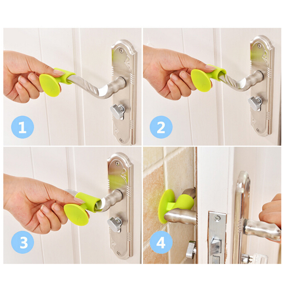 Silicone Door Lock Protective Pad Door HandleSuction Cup Type Cabinet Door HandleSilicone Anti-Collision Door Protective Pad