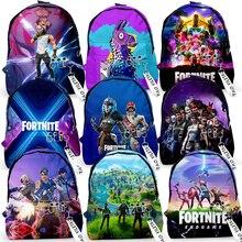 Child Backpacks Fortnite Schoolbag Cool Fortress Night Student Book Bag Backpack for Boy Girls Schoolbag Battle Royale Backpack