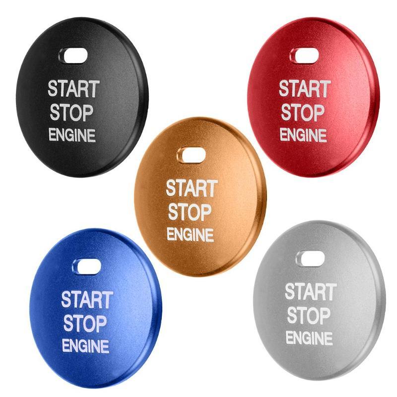 Car Engine Start Stop Push Button Cover Trim Cap Sticker For Mazda 3 Axela CX-3-4-5 Aluminum Silver Auto Accessorie Styling Tool