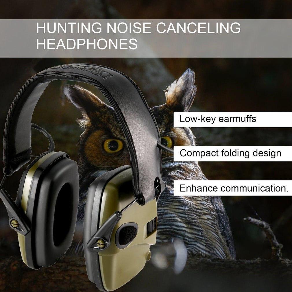 Уличные безопасные Тактические электронные наушники для стрельбы, наушники с защитой от шума, усиление звука, складные наушники-5