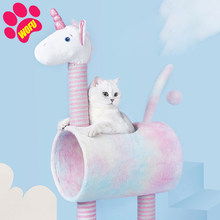 WOFUWOFU Activity Cat House Tree ,Play Cat,Scratching Posts Activity Tower Cat Play House