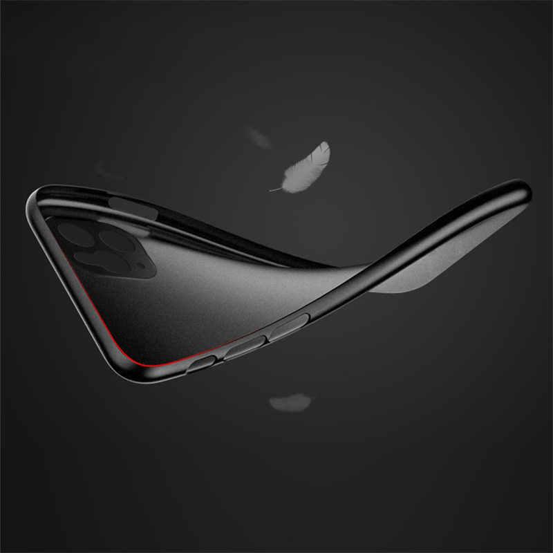 Lovebay 0.26 ミリメートル超薄型マット電話ケース iphone 7 8 6 6s プラス 11 pro x xr xs 最大 5s 、 se 透明耐震性スリムカバー