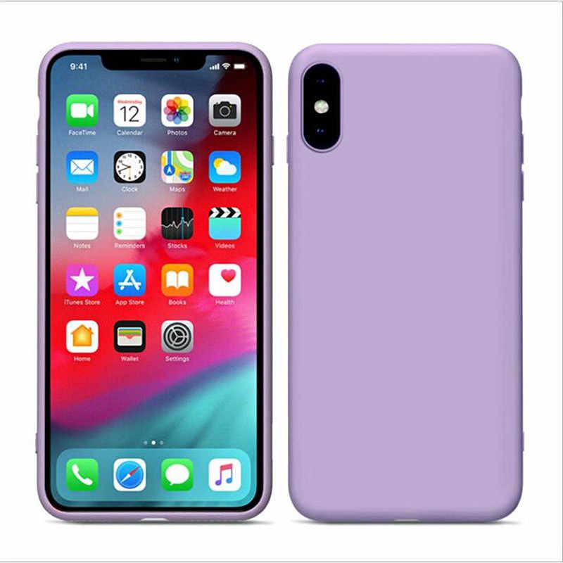 Роскошный жидкий силиконовый чехол для iPhone XS Max XR X 10 6 S 6 S iPhone 7 8 Plus 6plus 6splus 7plus 8plus мягкая задняя крышка для сотового телефона