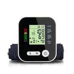 Electronic Tonometer  Blood Pressure Monitor Arm Tied Measurement LCD Digital Display Rechargeable Sphygmomanometer 2-user