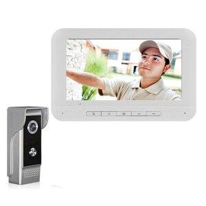 Image 3 - Система видеонаблюдения Yobang, домашний домофон с цветным экраном 7 дюймов, набор для домофона, домашняя семейная система контроля доступа к дверям