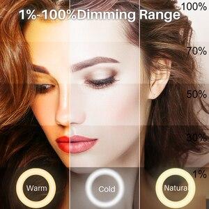 Image 4 - VIJIM 8 pollici 20cm Selfie Ring Light con treppiede supporto per telefono anello lampada scrivania LED Ringlight per Youtube Vlog Makeup