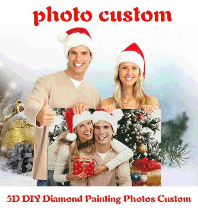 На заказ 5D DIY алмазная живопись фотографии на заказ полная квадратная Картинка из страз Алмазная вышивка Свадебный семейный