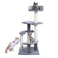 Pet Kratzen Post Grau Katze Baum Katze Klettergerüst Universal Pet Spielen Möbel Tiere Spielzeug Haus Bett Katze geschenk|Möbel & Kratzbäume|   -