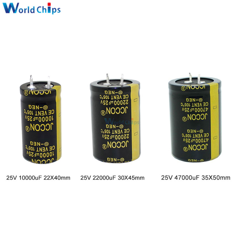 25V 10000uF 22000uF 47000uF Aluminum Electrolytic Capacitor High Frequency Low Impedance Through Hole Capacitor