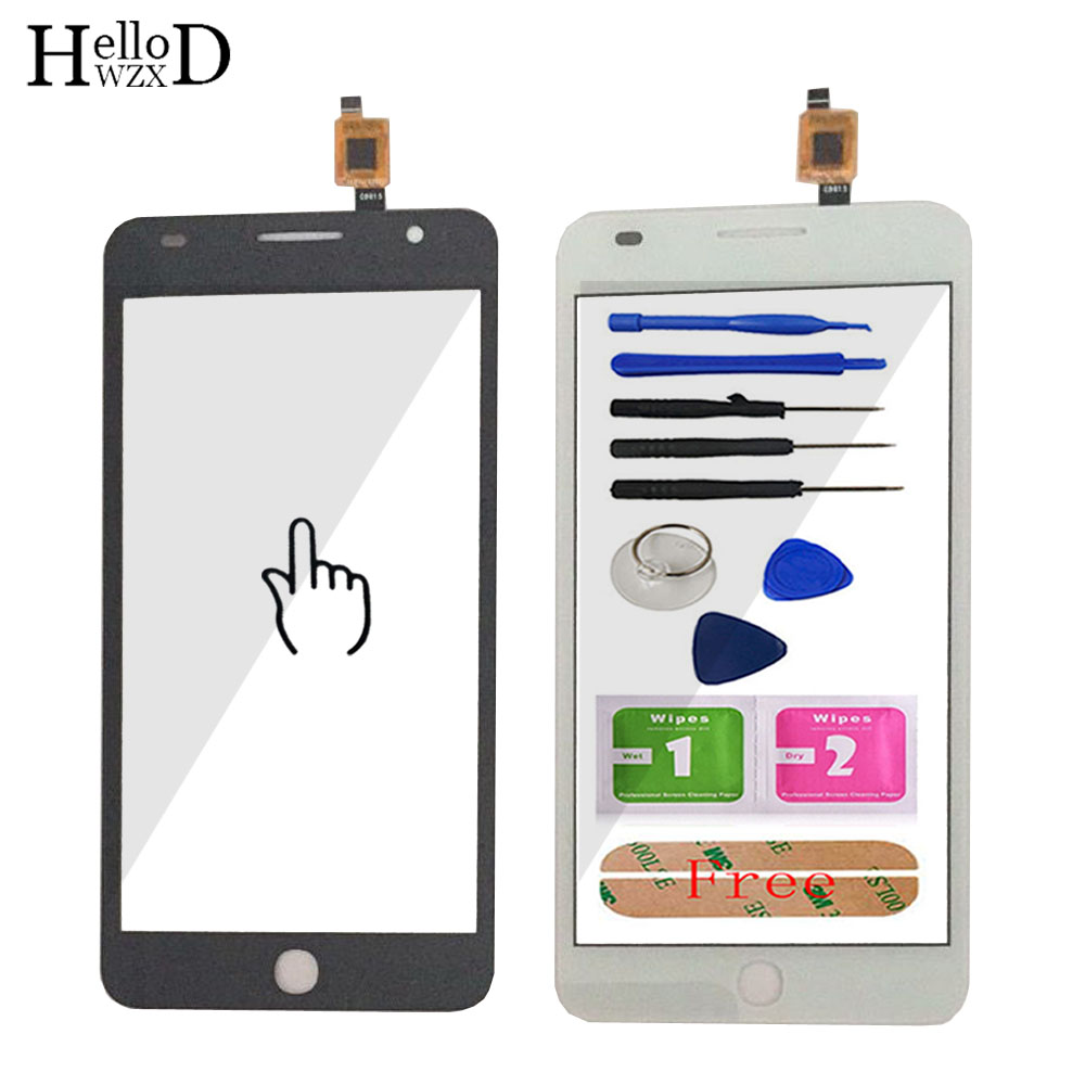 Touch Screen Class For Alcatel One Touch Pop Star 3G OT5022 OT 5022 OT-5022 5022X 5022D Digitizer Panel Lens Sensor  Adhesive