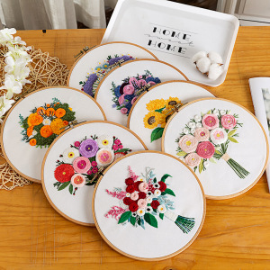 DIY Flower Bouquet Embroidery