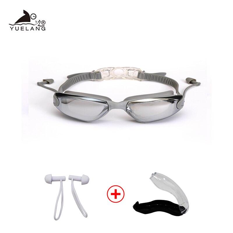 Óculos de Natação com tampões Das Mulheres Dos Homens óculos de Natação Terno À Prova D' Água HD Anti-Fog proteção UV Ajustável Óculos de Prescrição Para Piscinas
