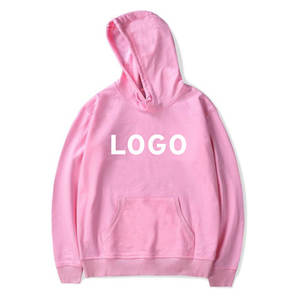 Pullover Hoodies Sweatshirt Women Clothing Bulk-Sale One-Piece Customized-Logo-Printing