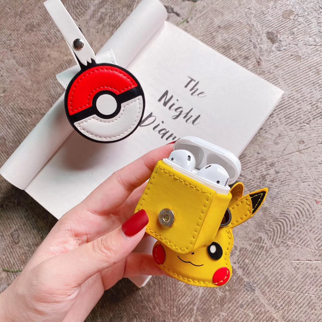 New Luxury For Apple <font><b>AirPods</b></font> 1 Silicone Headphones <font><b>Cases</b></font> For <font><b>Airpods</b></font> 2 Protective Cover Pokemon <font><b>Pikachu</b></font> Small Bag <font><b>Case</b></font> Wholesale image