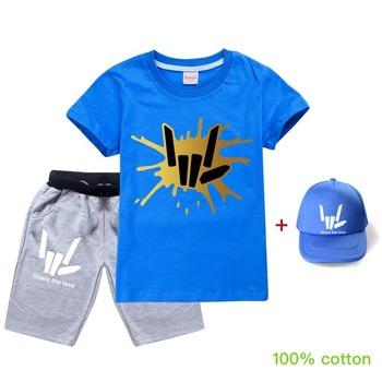 Maluch zestawy ubrań dla chłopców dzieci letni zestaw ubrań dla dzieci dziewczyna dorywczo strój sportowy ubrania dla dzieci podziel się miłością t strój z koszulką tanie i dobre opinie Aktywny CN (pochodzenie) O-neck Swetry 2020 S TXD516+MAO COTTON Chłopcy Krótki REGULAR Pasuje prawda na wymiar weź swój normalny rozmiar