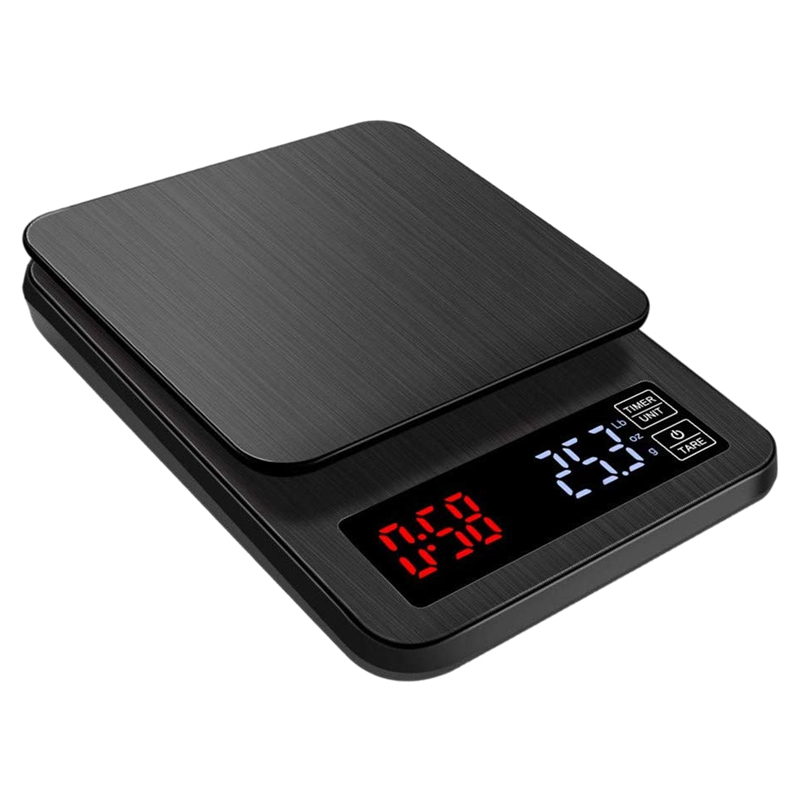 3000G / 0.1G Accuracy Digital Scale With Timer For Kitchen, Cooking, Baking, Coffee, Tea, Flour Scale