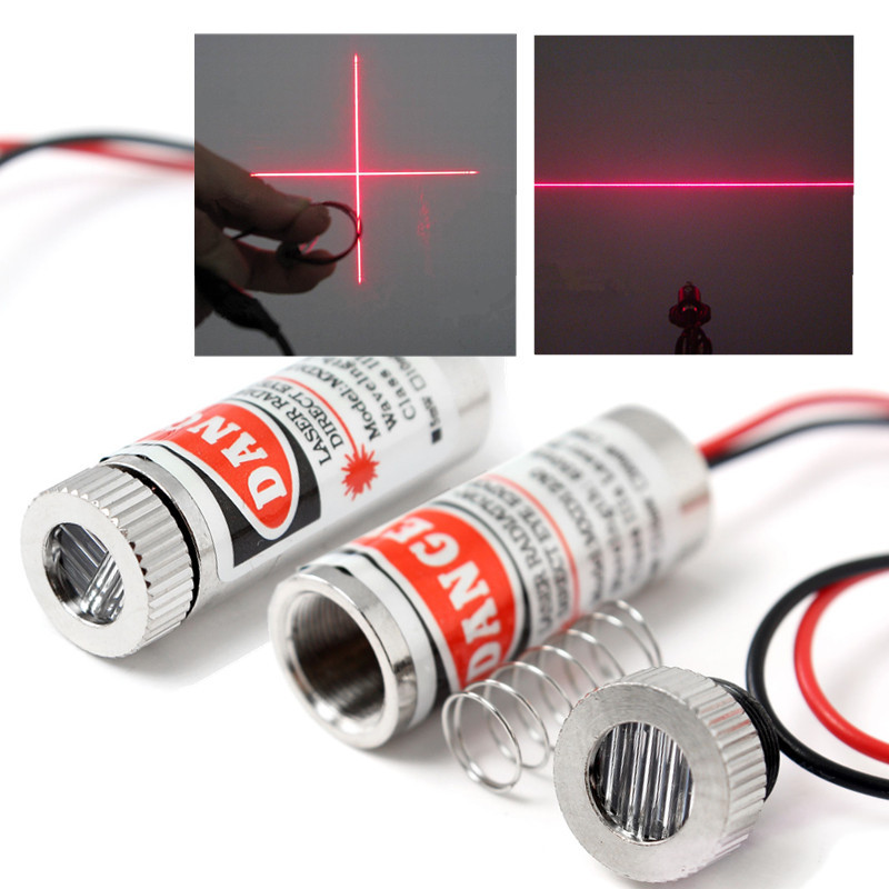 Durable 650nm 5mW Red Point / Line / Cross Laser Module Head Glass Lens Focusable Industrial Class