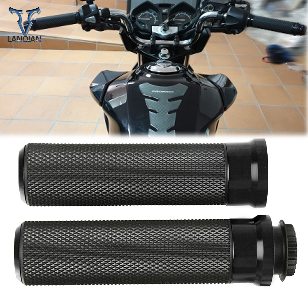 Motorcycle Accessory Poignee Moto Aluminum Hand Grip Aluminum Plastic For YAMAHA MT 03 XMAX 125 VESPA 125 SUZUKI GSXR 1100