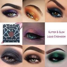 PHOERA 12 kolorów cień do powiek miga cień do powiek diament monochromatyczny brokat cień do powiek proszek do makijażu oczu TSLM1