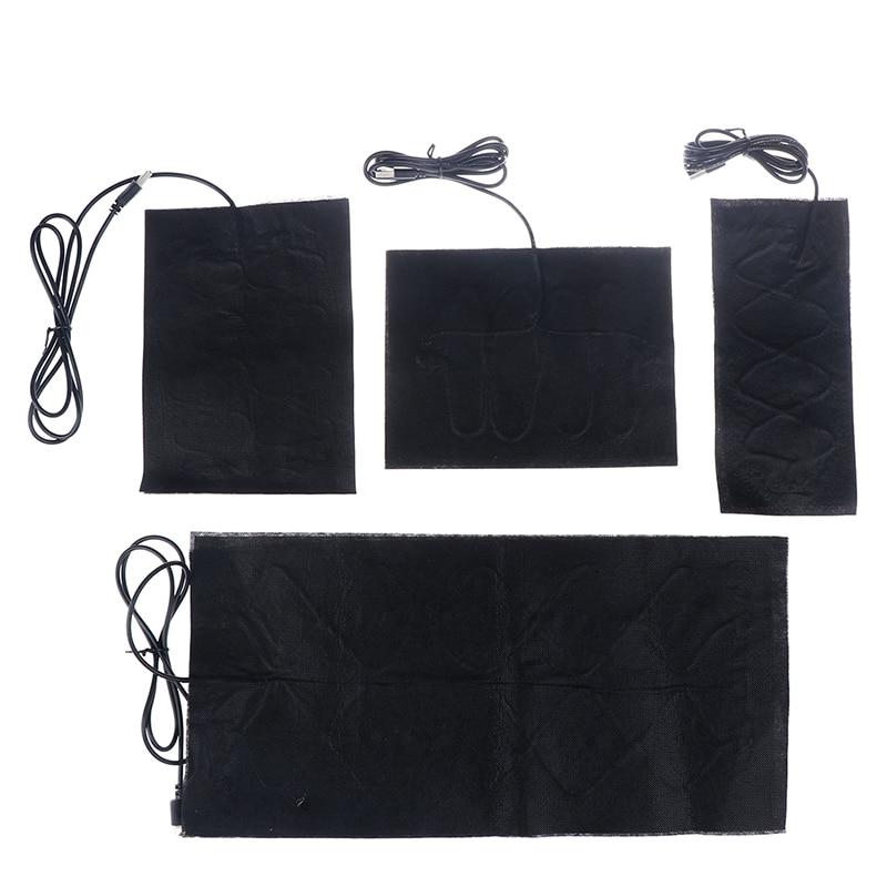 1/4 шт USB теплые Вставки колодки Быстрое нагревание углеродного волокна грелки безопасные грелки колодки для ткани жилет куртка обувь носки