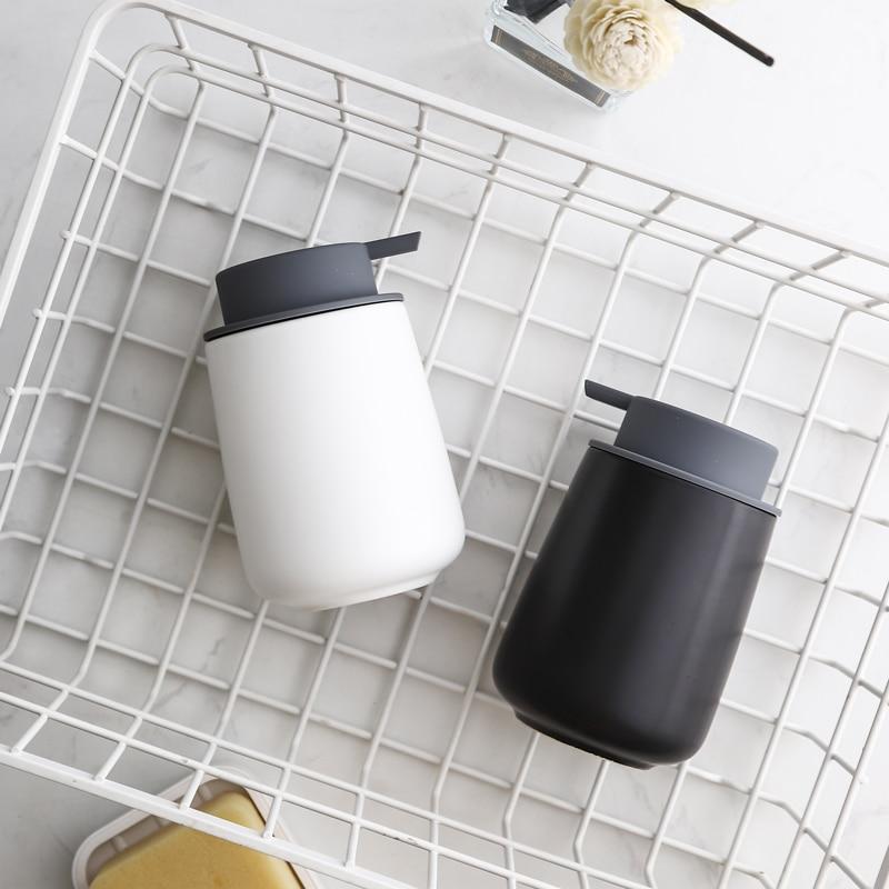 European Art Ceramic Hand Sanitizer Bottle Home Hotel This Method Water Shower Gel Press Bottle Bathroom Decoration Accessories
