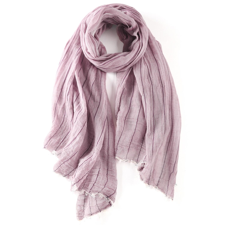 Fashion New Style Cotton Scarf Men'S Wear WOMEN'S Dress Stripes Pattern Warm Winter Shawl Cotton Linen Sun-resistant Mori Girl-S