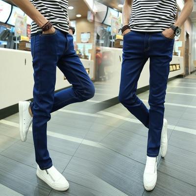 Lin Curved MEN'S Jeans Korean-style Athletic Pants Slim Fit Pencil Pants Men Skinny Jeans Fashion Men's Trousers
