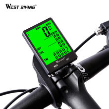 WEST BIKING Cycling Speedometer 2.8'' Large Screen Waterproof 20 Functions Wireless and Wired Bike Odometer Bicycle Computer