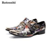 Batzuzhi Mode Oxford Schuhe für Männer Spitz männer Echte Leder Kleid Schuhe Farbe Party und Hochzeit zapatos de hombre