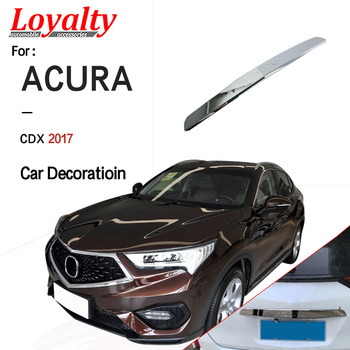 Loyalty for Toyota Acura CDX 2017 Exterior Rear Boot Door Trim Cover Trunk Upper Lid ABS Silver Car Accessories Auto Styling