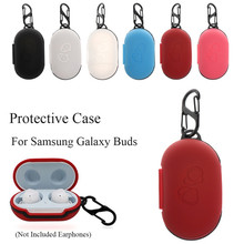 For Galaxy Buds Silicone Case for Samsung Galaxy Buds 2019 Case Keychain Skin Protecive Cover Charging Soft Ecouteur Inear Coque