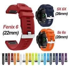 ل QuickFit الفرقة Garmin Fenix 6 6X6 S/5s 5X5 Plus 3HR سيليكون حزام Forerunner 945 935/غريزة حزام الساعات 20 مللي متر 22 مللي متر 26 مللي متر