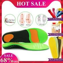 Высококачественные Ортопедические стельки eva для плоскостопия, ортопедическая обувь, стельки для мужчин и женщин, большие размеры