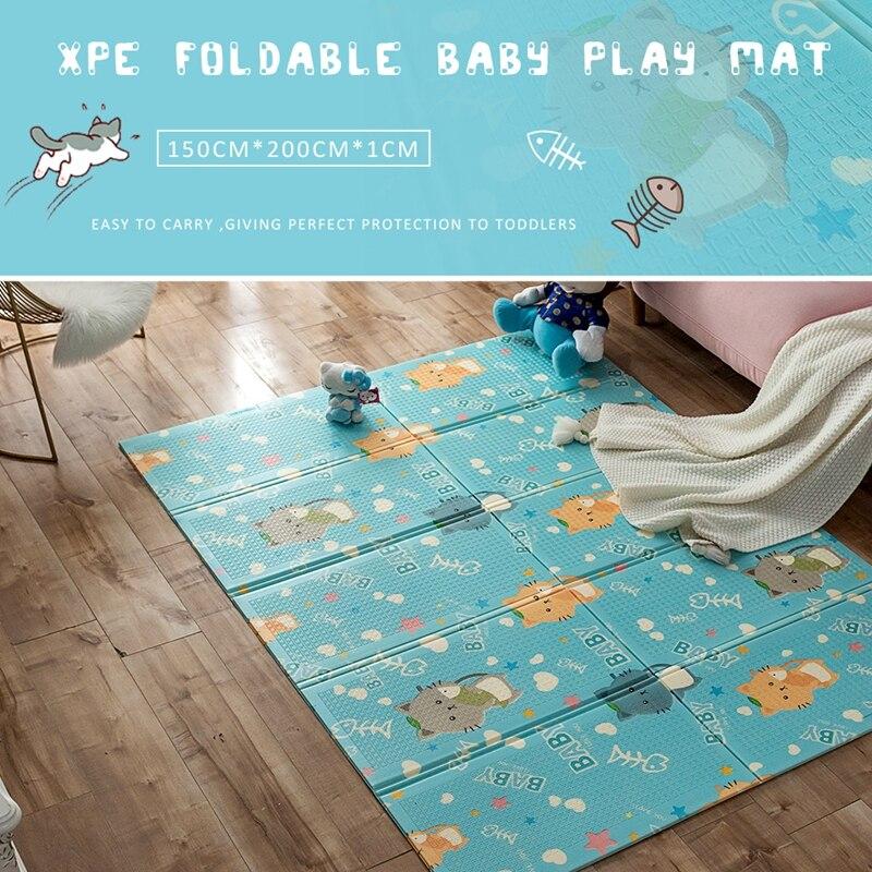 XPE doux tapis de jeu bébé ramper tapis pliable ramper tapis mousse Puzzle enfants tapis de sol enfants tapis épaissi coussin pour chambre de bébé