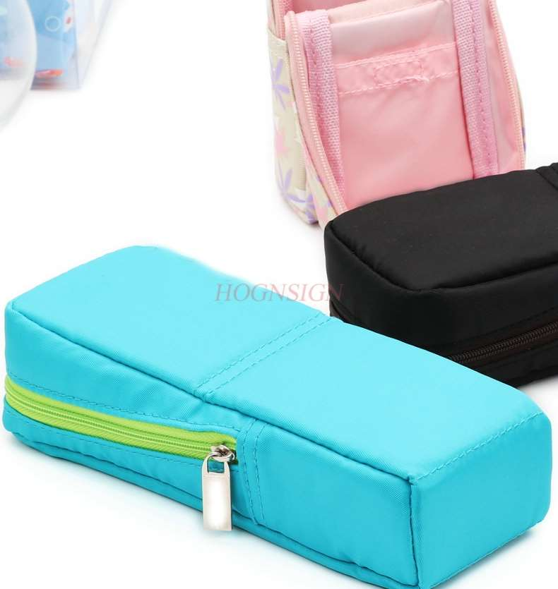 Student Pencil Case Simple Canvas Men's And Women's Pen Box Can Stand Large Capacity Storage Stationery Box Variable Pen Holder